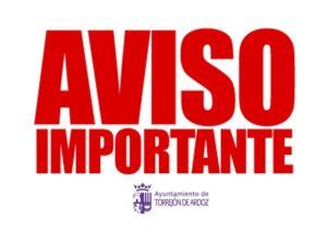 COMUNICADO OFICIAL del Ayuntamiento de Torrejón de Ardoz: Medidas adicionales de protección a las ordenadas por las autoridades sanitarias